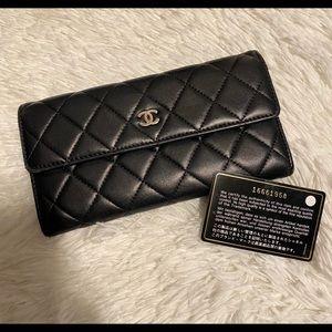 Chanel Long Flap Black classic wallet